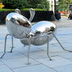 太空蚂蚁不锈钢景观雕塑