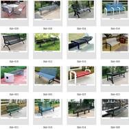 钢结构公园椅 钢结构公园休闲椅 钢结构户外公园椅 钢结构公园休息椅 善群景观