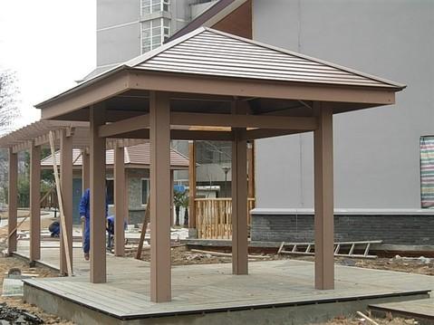 别墅庭院木塑凉亭