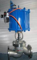 气动铸钢法兰高温蒸汽导热油截止阀