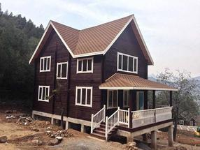高端木别墅,仿古牌楼牌坊,木屋设计