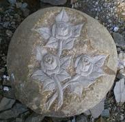 GGQ030玫瑰花艺术雕刻/溪石玫瑰花艺术雕刻