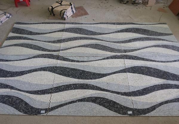 波浪形地毯简笔画