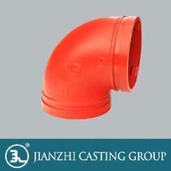 FM认证25公斤级沟槽管件90°弯头