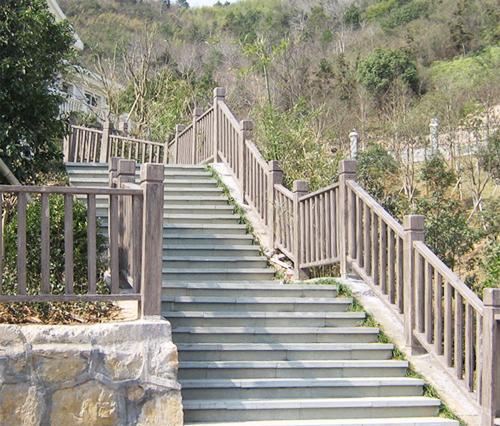 仿木护栏,隔离护栏,栈道栏杆,仿木栈道,山体护栏