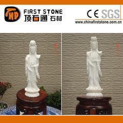 白色大理石,玉石观音石雕MGP221