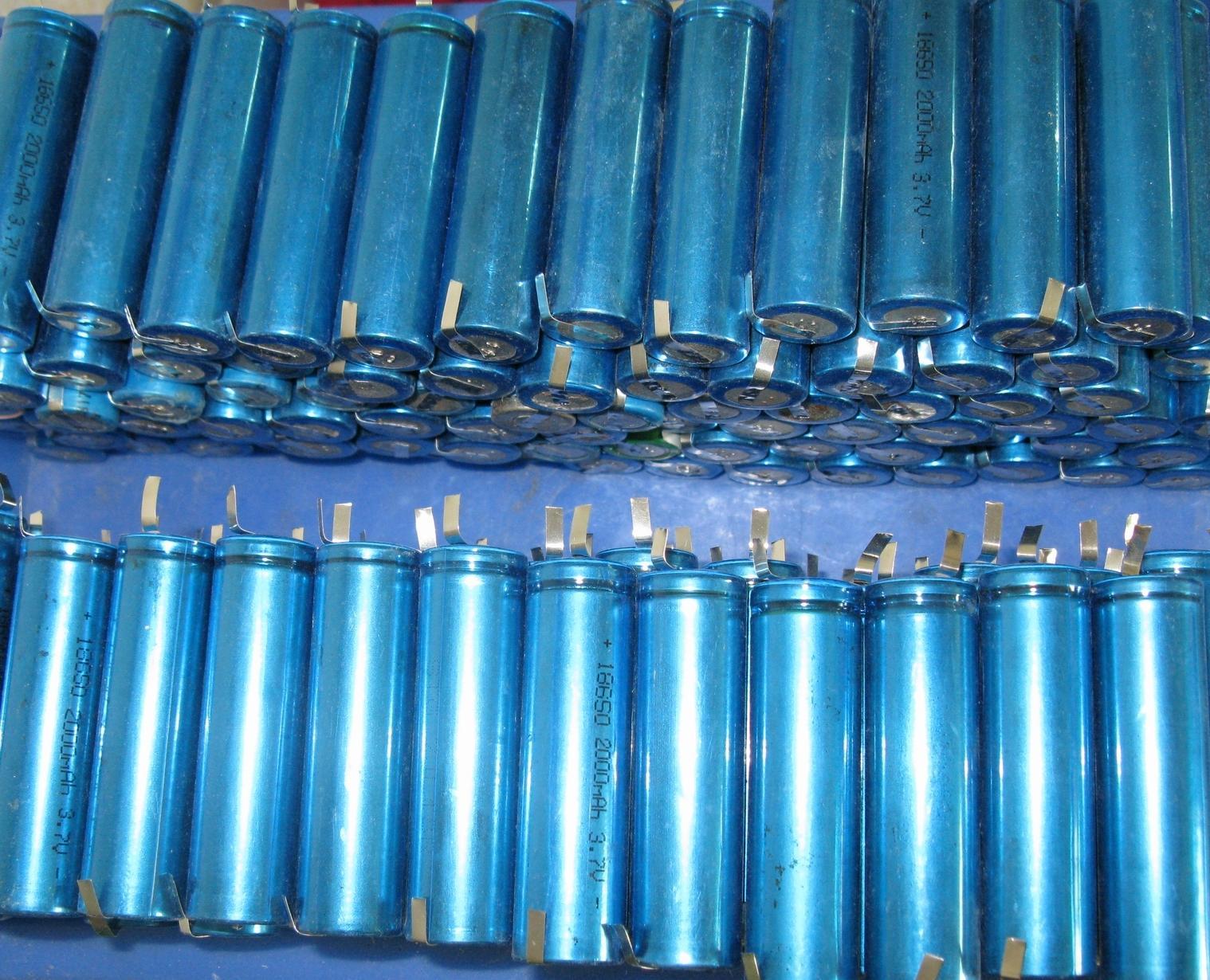 18650拆机锂电池图片