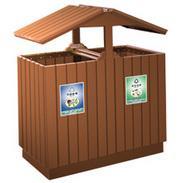钢木清洁箱钢木垃圾桶钢木分类垃圾桶