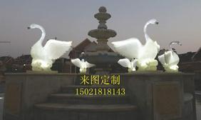 仿真天鹅雕塑 发光动物雕塑 上海雕塑制作