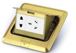 地面插座,弹起式铜合金地面插座