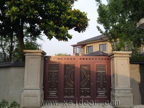 黑铝铜智能庭院门 别墅院墙门 遥控围墙门