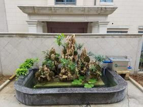洛阳庭院金鱼池改造富邦最新鱼池过滤