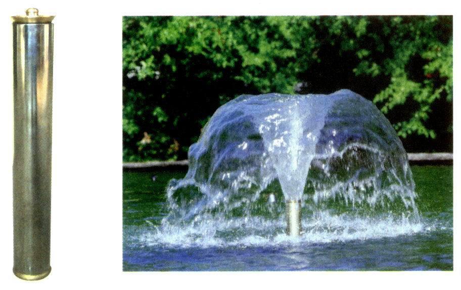 喇叭花形喷泉图片_