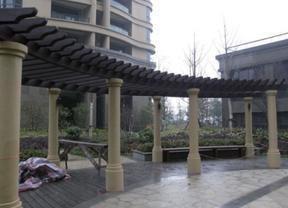 户外园林景观塑木凉亭