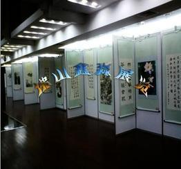 珠海八棱柱屏风双面挂画展板架 广东批发制作