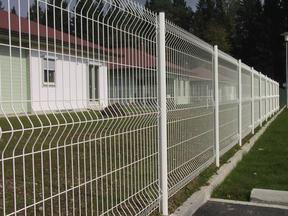 三角折弯护栏网、小区围栏