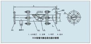 上海沃尔德斯SGH管式静态混合器