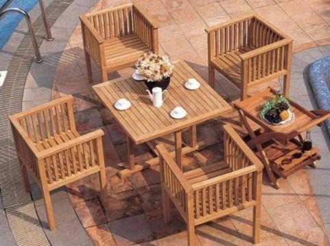 欧式休闲实木套桌椅yq01-35