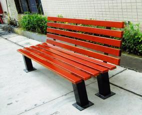 园林木质平凳、公园铁制座椅、广场长椅