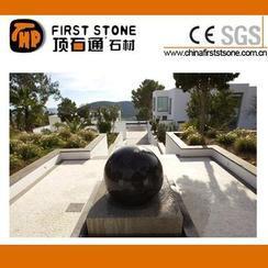 黑色花岗岩风水球GAF310