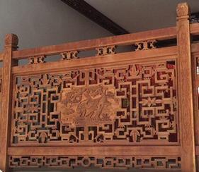 扶手栏杆护栏防腐木实木古建筑山东潍坊青州临朐