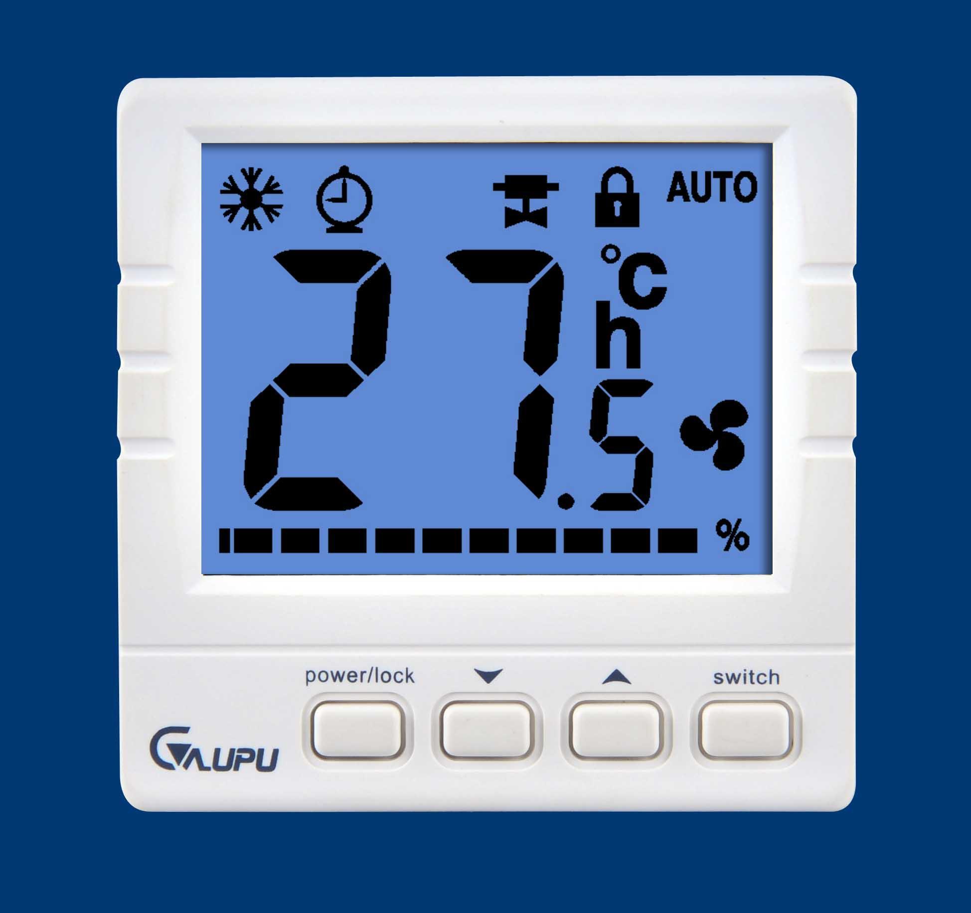 温控器_风机盘管大液晶温控器gp610