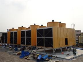 100吨方形冷却塔_注塑机冷却塔
