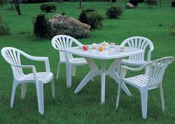 塑料户外休闲桌椅/广告野餐桌椅