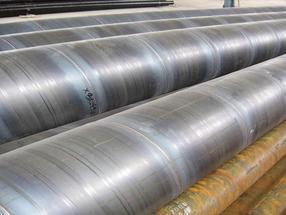 聊城螺旋钢管生产基地 广告牌螺旋管制造