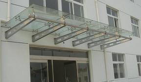 专业供应西安玻璃雨棚车库雨棚西安玻璃雨棚厂家