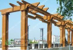 仿木花架,亭廊花架,仿木小品,园林绿化,景观设计