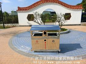广州易居生产户外不锈钢垃圾桶小区街道分类垃圾桶不锈钢垃圾桶