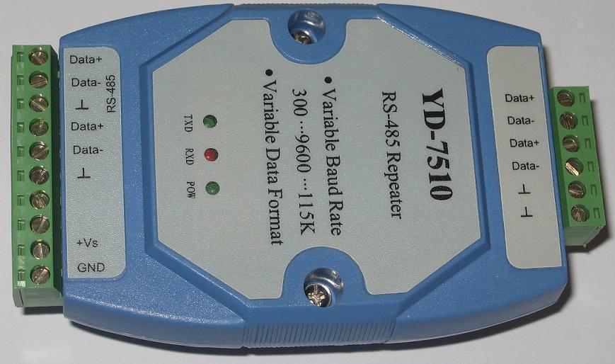 yd-7510型rs485光隔离防雷中继器