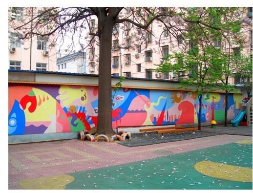 幼儿园墙饰艺术抽象图