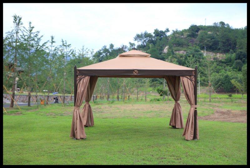 户外凉亭帐篷 欧式休闲遮阳雨棚花园铁艺凉亭四柱罗马
