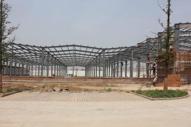 金桥拱形屋顶拱形屋面钢结构