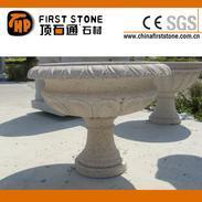 锈色花岗岩花盆GGV308