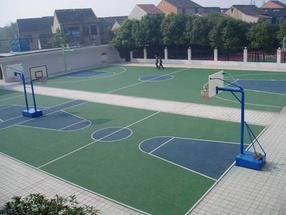 广西硅pu篮球场 广西室外球场地胶
