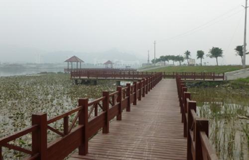 兰州木栈道,围栏,景观木制品