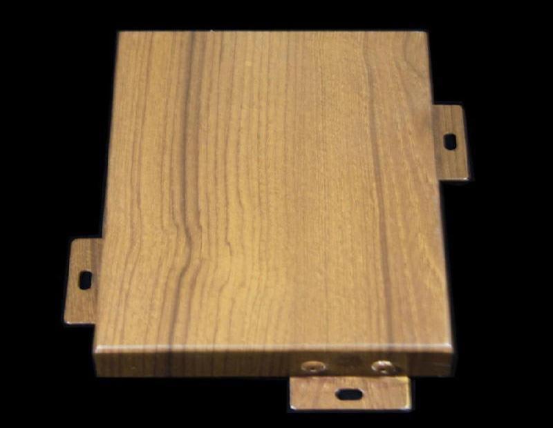 5mm铝板吊顶 仿木纹铝单板