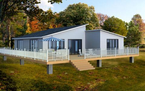 环保新材料塑木 生态集成房屋