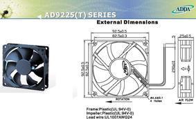 供应全新ADDA直流风机AD0912HB-A70(AD0924HB-A70)
