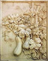 砂岩植物浮雕