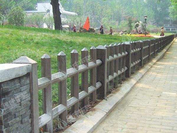 仿木,栅栏,仿木栅栏,园林小品,绿化设施