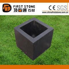 黑色石灰石花盆GGV131