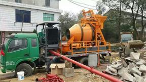搅拌机地泵 小型泵车