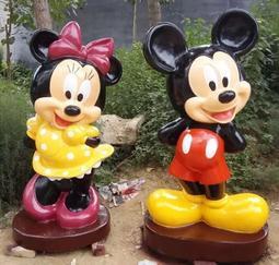 江苏雕塑 经典卡通人物米老鼠彩绘树脂玻璃钢雕塑