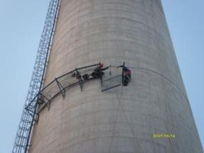 烟囱安装检测平台、烟囱安装爬梯护网