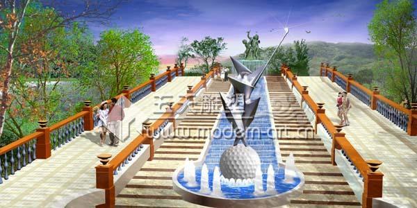 景观喷泉 景观雕塑 园林雕塑小品 园林绿化 不锈钢
