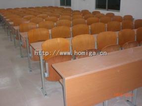 钢木联排课桌椅,用于大学教室,各类培训室的联排课桌椅厂家定做